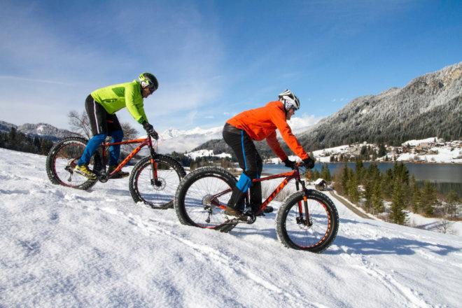 Radfahren Winter